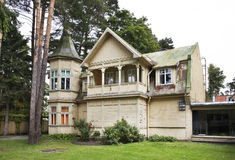 Building in Jurmala town. Latvia Stock Images