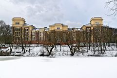 Building of the Kaliningrad regional court. Kaliningrad (before 1946 Koenigsberg), Russia Royalty Free Stock Photography