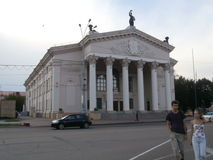 The building of the Kaluga drama theatre (Russia). Royalty Free Stock Photography