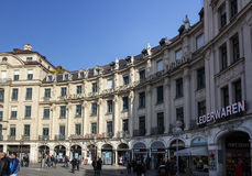 Building at Karlsplatz, Munich, Germany, 2015 Royalty Free Stock Image