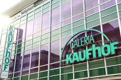 Paderborn, northrine westfalia, germany, 25.05.18, building of a kaufhof galeria store royalty free stock image