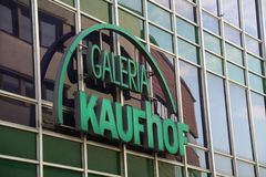 Paderborn, northrine westfalia, germany, 25.05.18, building of a kaufhof galeria store stock images