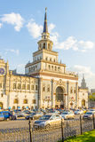 The building of the Kazan railway station in Moscow Royalty Free Stock Image