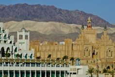 Building of King City in Eilat, Israel Royalty Free Stock Photos