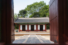 Building in Korean ancient shrine Royalty Free Stock Images