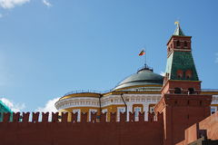 Building of Kremlin is in city Moscow Royalty Free Stock Photography