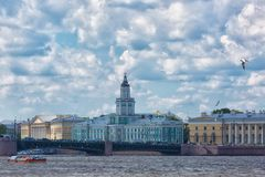 building of the Kunstkammer in St. Petersburg Stock Image