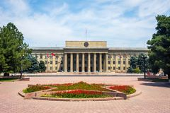 The building of Kyrgyz government royalty free stock image