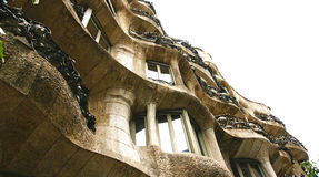 Building La Pedrera by Antonio Gaudi Stock Photo