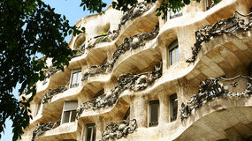 Building La Pedrera by Antonio Gaudi Royalty Free Stock Photography