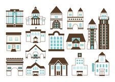Building and Landmark icons Royalty Free Stock Photography