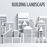 Building landscape emblem Stock Photos