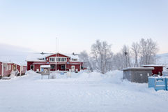 Building in Lapland Royalty Free Stock Image