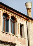 Building with large and especially the fireplace in Treviso in the Veneto (Italy) Royalty Free Stock Photo