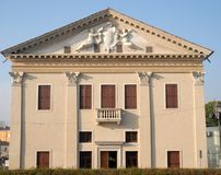 Building with large stucco in Monselice in the Veneto province of Padua (Italy) Stock Images