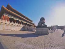 The timber structure in Forbidden City royalty free stock image