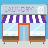Building laundry flat design Stock Images