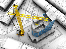Building layout Stock Images