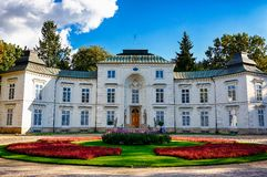 Building in Lazienki Park in Warsaw Royalty Free Stock Images