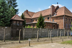 Building leadership concentration camp Auschwitz, Poland Stock Photography