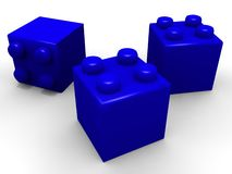 Building lego blocks Royalty Free Stock Image
