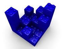 Building lego blocks Royalty Free Stock Photos
