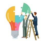 Building a light bulb Stock Photo