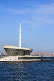 The building of the lighthouse in the Baku Bay at the entrance to the seaport. Azerbaijan Stock Photos