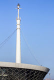 The building of the lighthouse in the Baku Bay at the entrance to the seaport. Azerbaijan Stock Photography