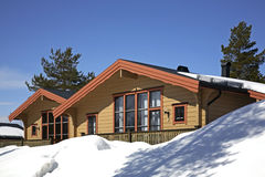 Building in Lindvallen. Salen. Dalarna county. Sweden.  Royalty Free Stock Photography