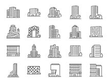 Free Building Line Icon Set. Included Icons As City  Scape, Architecture,dwelling, Skyscraper, Structure And More. Royalty Free Stock Photos - 159079088