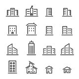 Building line icon Royalty Free Stock Images