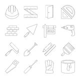 Building line icons set Royalty Free Stock Images