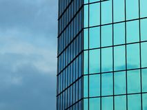 Building lined with glass texture royalty free stock photo