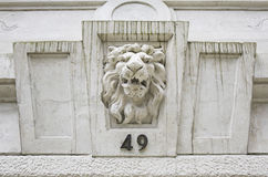 Building with lion Royalty Free Stock Image