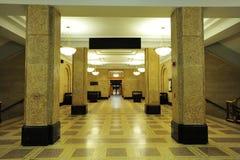 Building lobby. Interior look of building lobby in university of alberta Royalty Free Stock Photo
