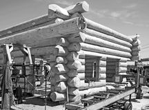 Building a log home Royalty Free Stock Images