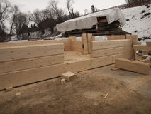 Building log houses rectangular Stock Image