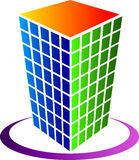 Building logo. Illustration drawing of building logo with isolated background Stock Images