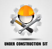 Building logo, construction working industry concept.- Vector illustration Royalty Free Stock Image