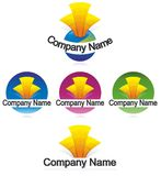 Building logo. Many Building logo on white background Royalty Free Stock Photos