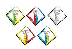 Building logo. On white background Royalty Free Stock Image