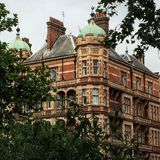 Building in London. Harley street history buildings Stock Photography