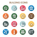 Building long shadow icons Stock Image