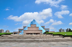 Building in Longhua Martyrs. Longhua Martyrs Cemetery in Shanghai Royalty Free Stock Image