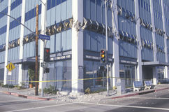 A building in Los Angeles destroyed Stock Photography