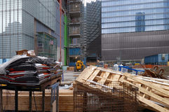 Building lot in New York Stock Images