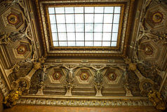 Building of Louvre Indoor. Paris, France. Royalty Free Stock Images