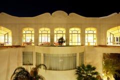 Building of the luxury hotel in night illumination Royalty Free Stock Photos