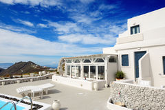 The building of luxury hotel, Santorini Royalty Free Stock Photos